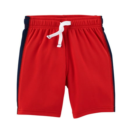 Carter's Baby Boys' Easy Pull-On Mesh Shorts, Red, 9 Months](Red Boy Shorts)