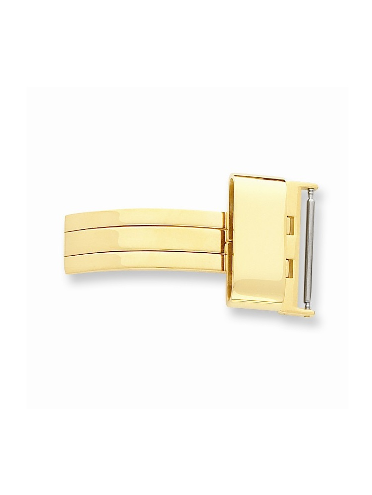 22mm Gold-tone Butterfly Style Deployment Buckle