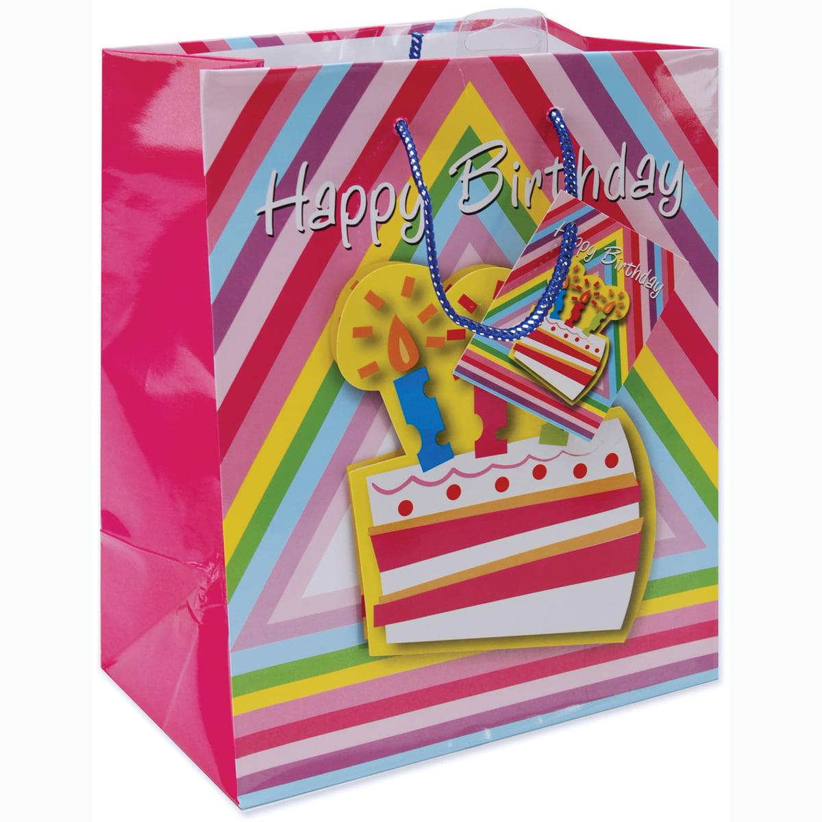 "Gift Bags, 10.5"" x 5.375"" x 13"", Birthday Cake"
