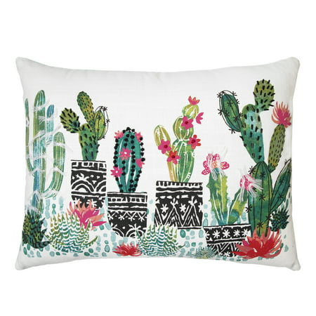 Better Homes and Gardens, Cactus Splash Multi Pillow ()