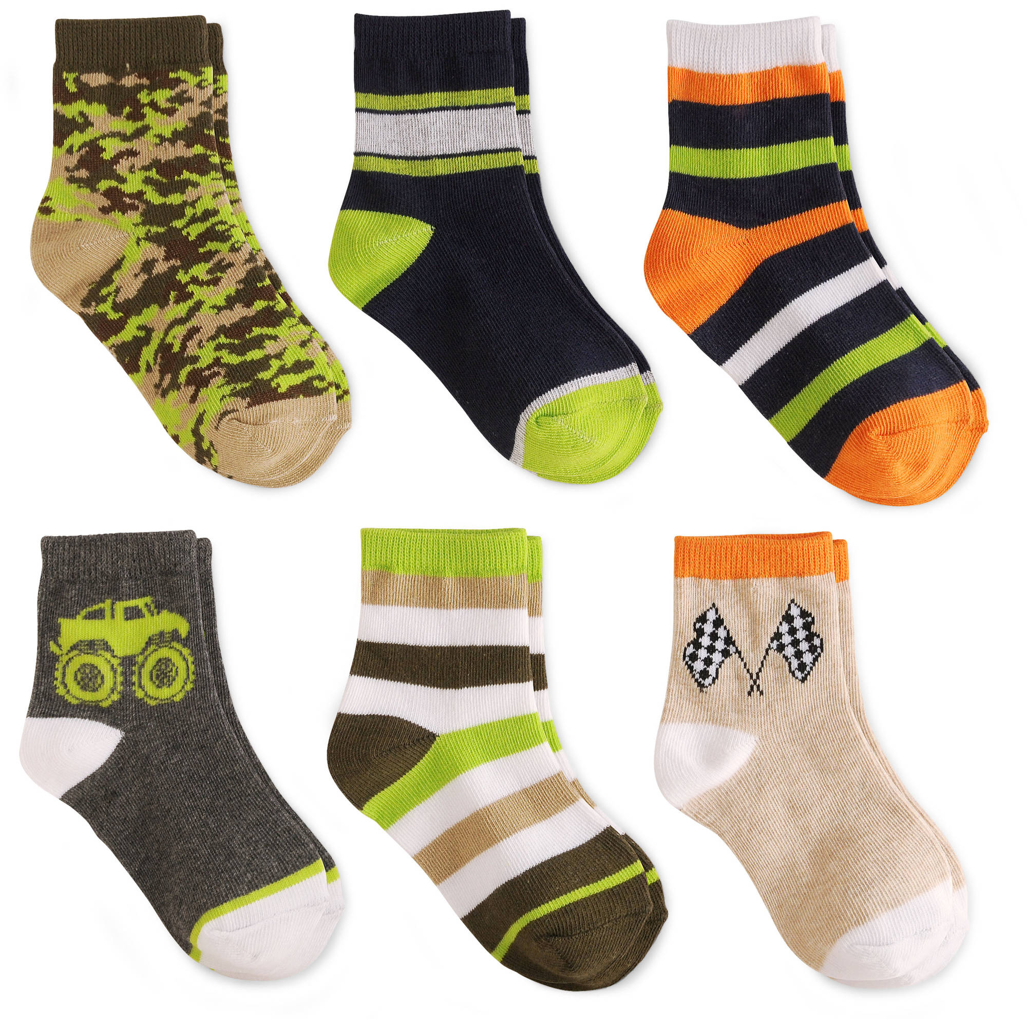 Garanimals Baby Toddler Boy Socks,6-Pack