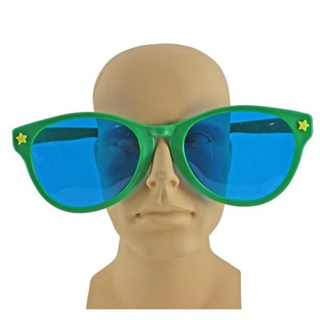 Jumbo Giant Clown Novelty Sunglasses Glasses Plastic Novelty Costume Huge Frames - Large Novelty Sunglasses