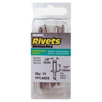 FPC48SS 15-Pack Long Stainless-Steel Rivets - Quantity 1