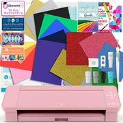 Silhouette Blush Pink Cameo 4 Deluxe Siser Easyweed Heat Transfer (HTV) Bundle