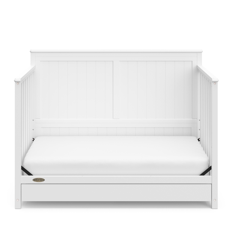 Graco Hadley 4 In 1 Convertible Crib With Drawer White Walmart Com Walmart Com