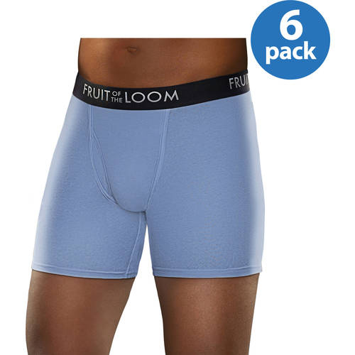 NEW Fruit of the Loom Men's Breathable Assorted Color Boxer Briefs, 6-Pack