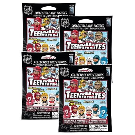 TeenyMates NHL Series 5 (Goalies) Blind Pack 4-Pack Assortment by Party