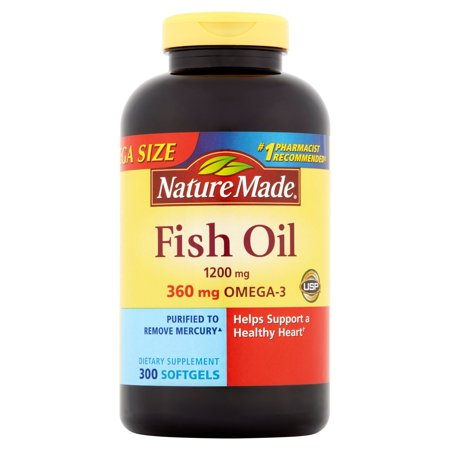 Nature Made Fish Oil Liquid Softgels Mega Size, 300ct