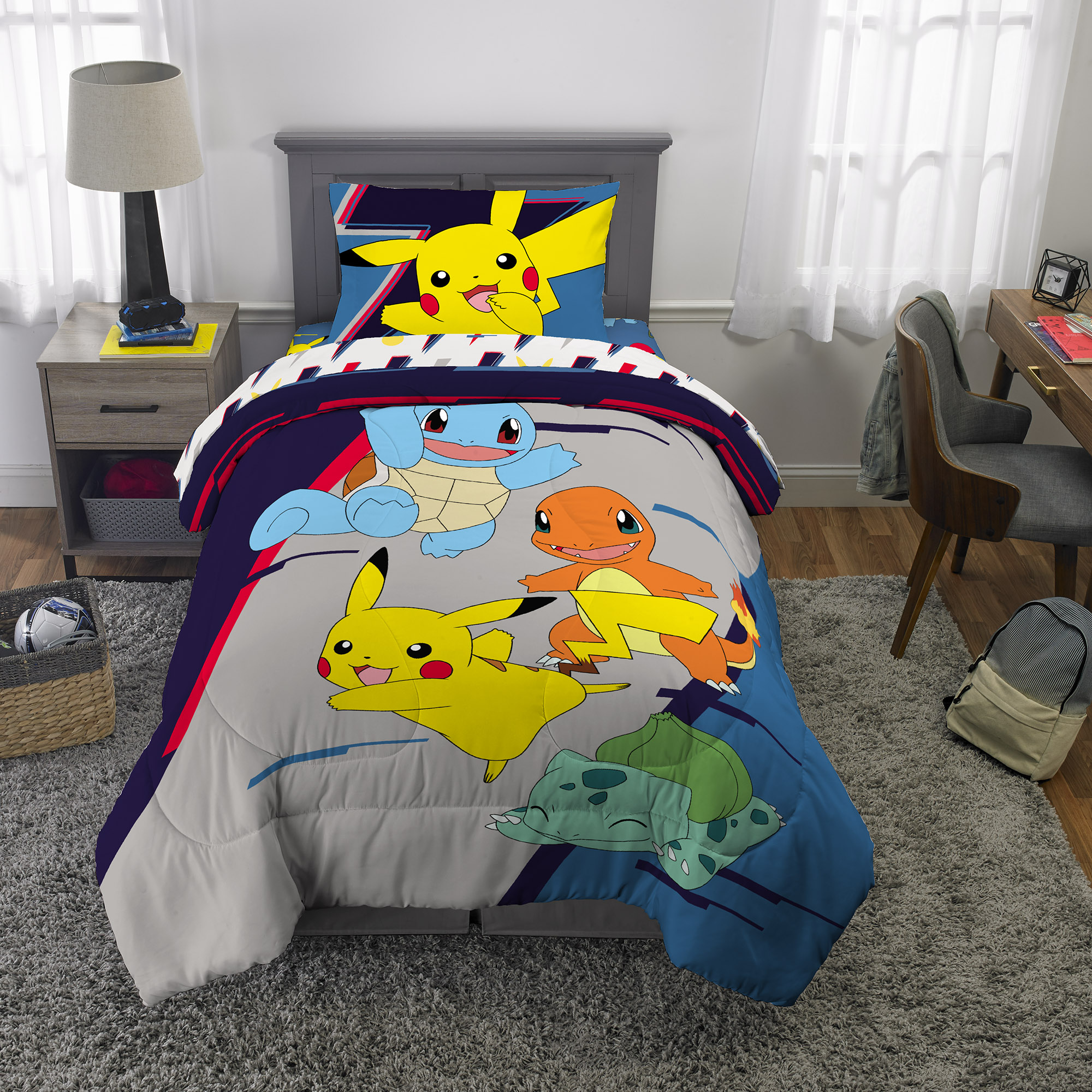 Pokemon Pikachu  Marvel Soft Fleece Throw Bed Blanket Travel Kids Home Decor