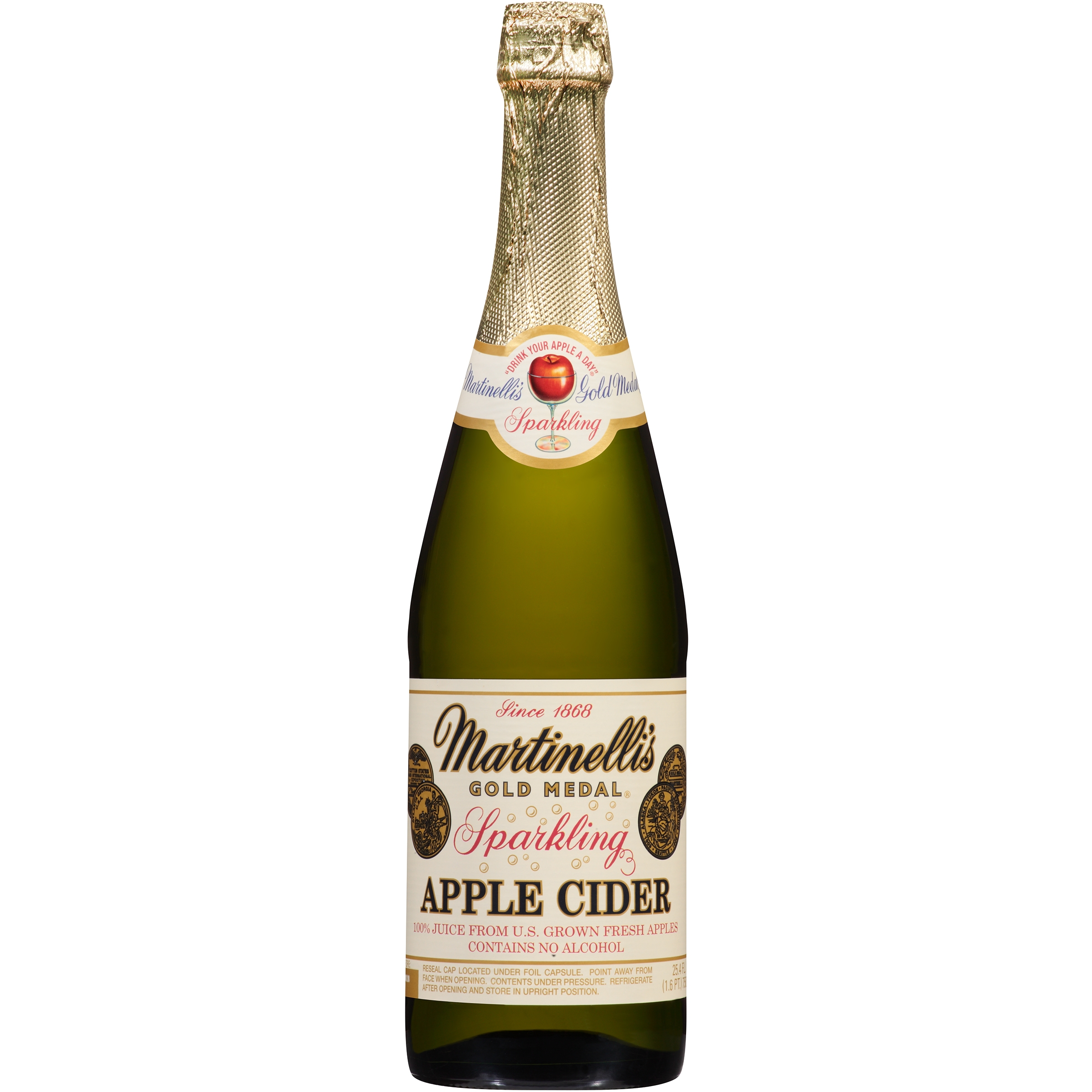 Martinelli's Gold Medal® Sparkling Apple Cider 100% Juice...