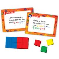 EAI Education Color Tile Fraction Puzzles: Grades 3-4
