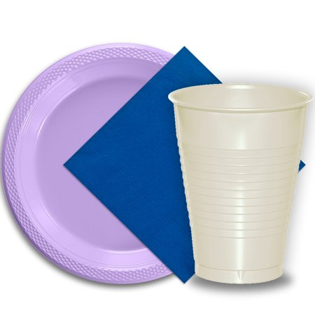 Alice In Wonderland Party Plates And Cups (50 Lavender Plastic Plates (9