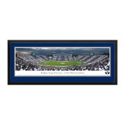 """BYU Cougars 18"""" x 44"""" 50-Yard Line Deluxe Framed Panoramic Wall Art"""