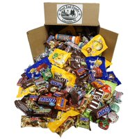 HALLOWEEN Chocolate, Assortment of Classic Candy of M&M's, Snickers, MilkyWay, Twix (5 lbs) Bulk of Fun Size or Minis Snacks in a Box. Perfect for a Party, Buffet, Pinata or Valentine Day Gift Baskets