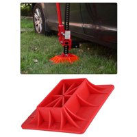 FAGINEY ABS Off-Road Base Lifting Jack Surface Pad Red Color to Alleviate Jack Hoisting Sinkage, Red Jack Base,Off-Road Base