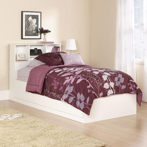 Mainstays Twin Storage Bed, Soft White
