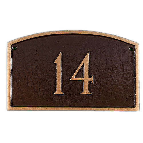 Montague Metal Products Inc. Petite Prestige Arch Address Plaque