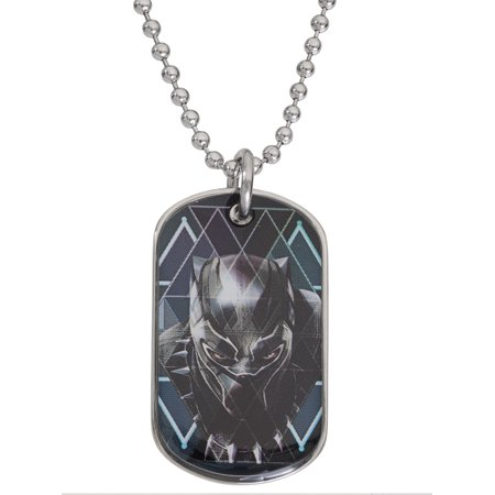 Kids Dog Tags (Black Panther Boys Stainless Steel Dog Tag Pendant,)