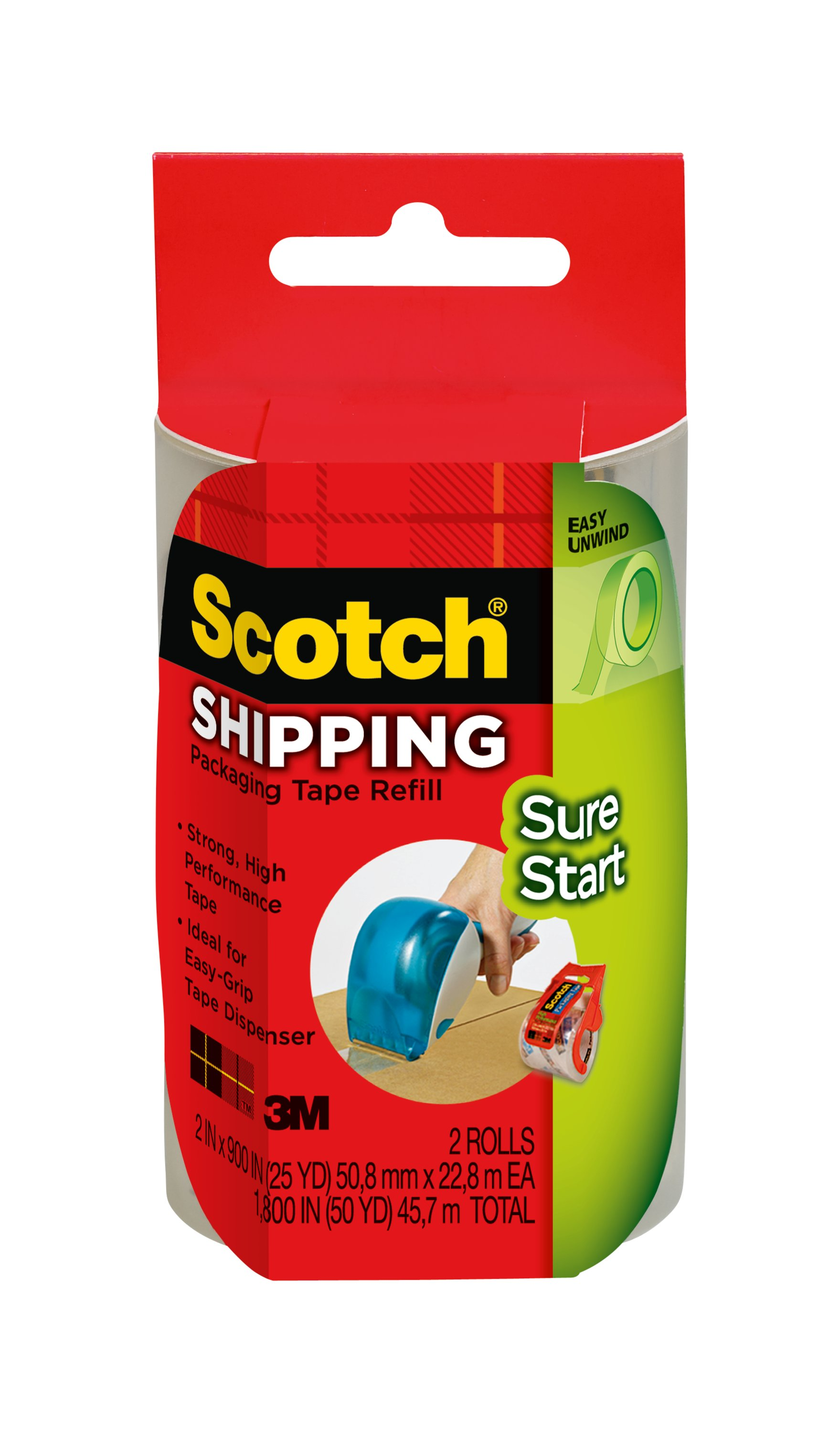 24 mm x 55 m Wrap Appliance Shipping Boxes Etc Scotch Film Strapping Tape Blue