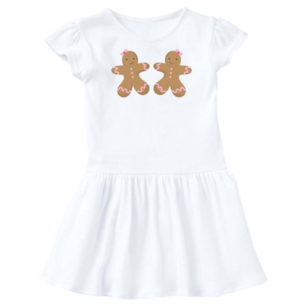 Gingerbread Girl Twins Toddler Dress
