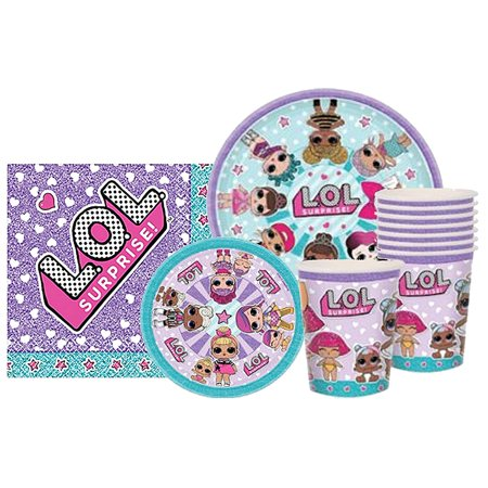 LOL Party Supplies Surprise Party Bundle for 8 Guests - Alan Party Supplies