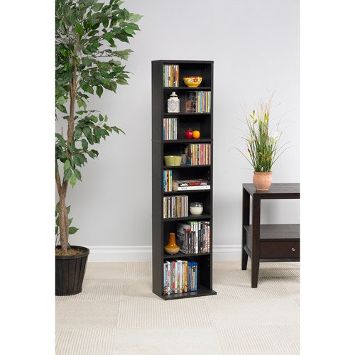 Atlantic Summit Wood Media Storage Shelf Bookcase Multiple Sizes Finishes Walmart Com Walmart Com