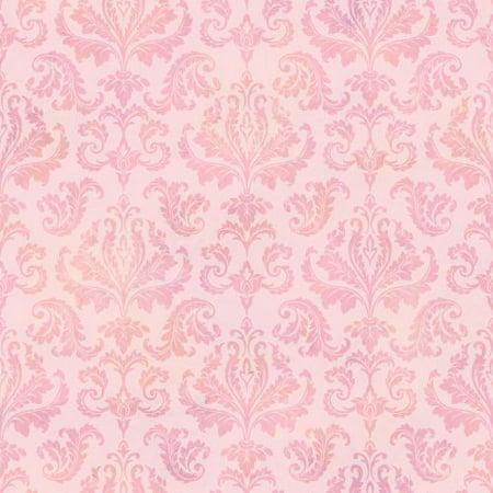 Brewster Tot47143 Svetlana Pink Tiedye Modern Damask Wallpaper