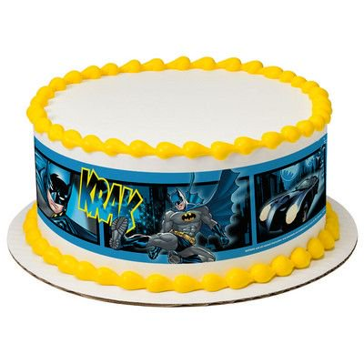 Batman Fwoosh Krak Wham Edible Cake Border Decoration