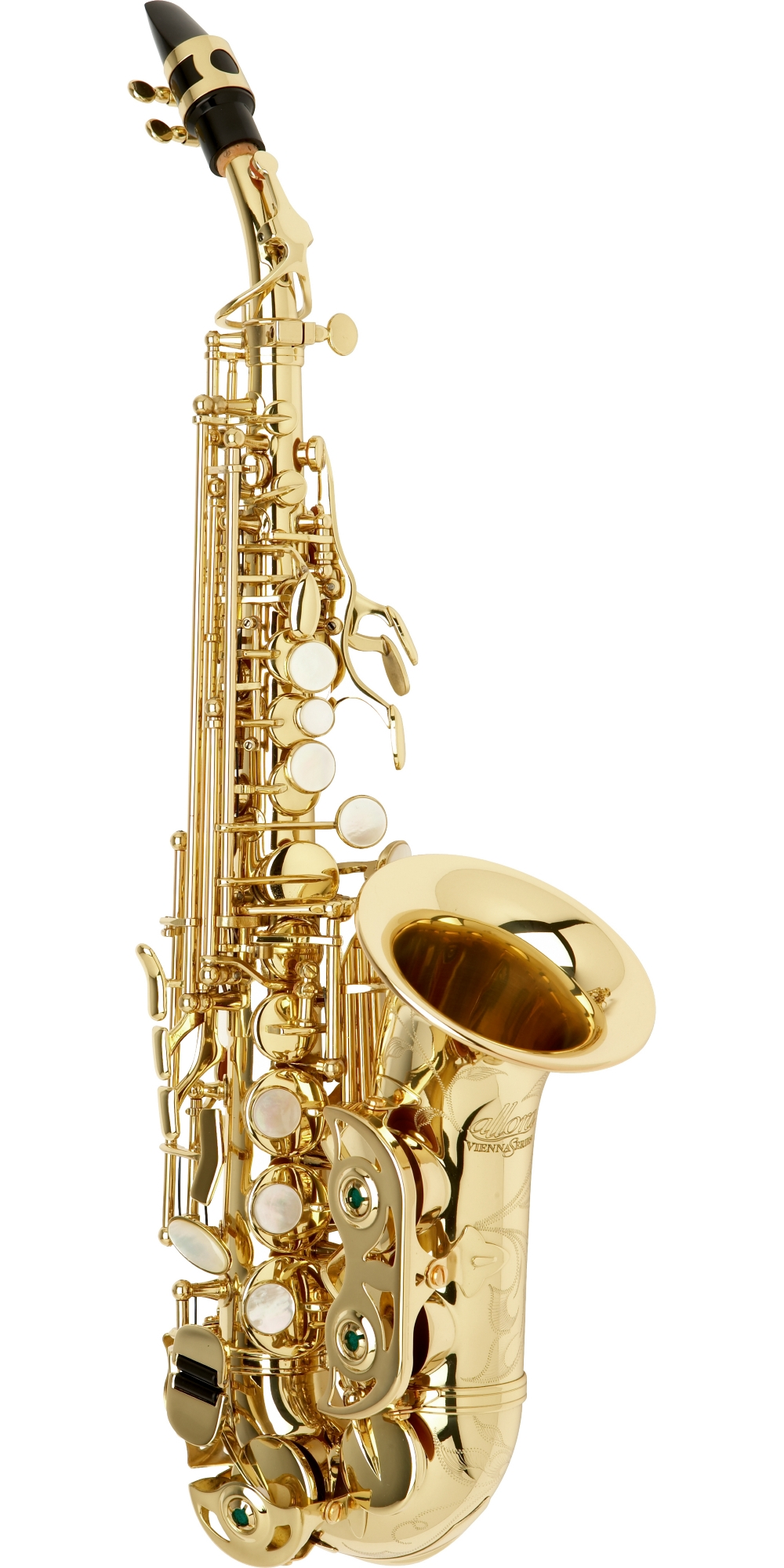 Allora Vienna Series Intermediate Curved Soprano Saxophone AASC-503 Lacquer by Allora