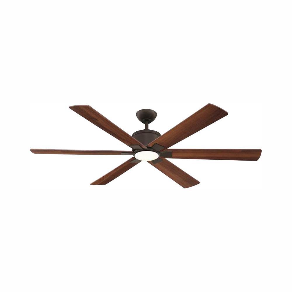 Renwick 60 In Led Indoor Oil Rubbed Bronze Ceiling Fan W Light Kit And Remote Walmart Com Walmart Com