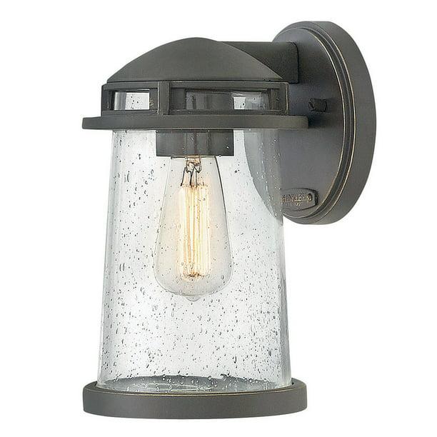 Hinkley Lighting 1880 Tatum 1 Light 9 3 4 High Wall Sconce With Seedy Glass Walmart Com Walmart Com