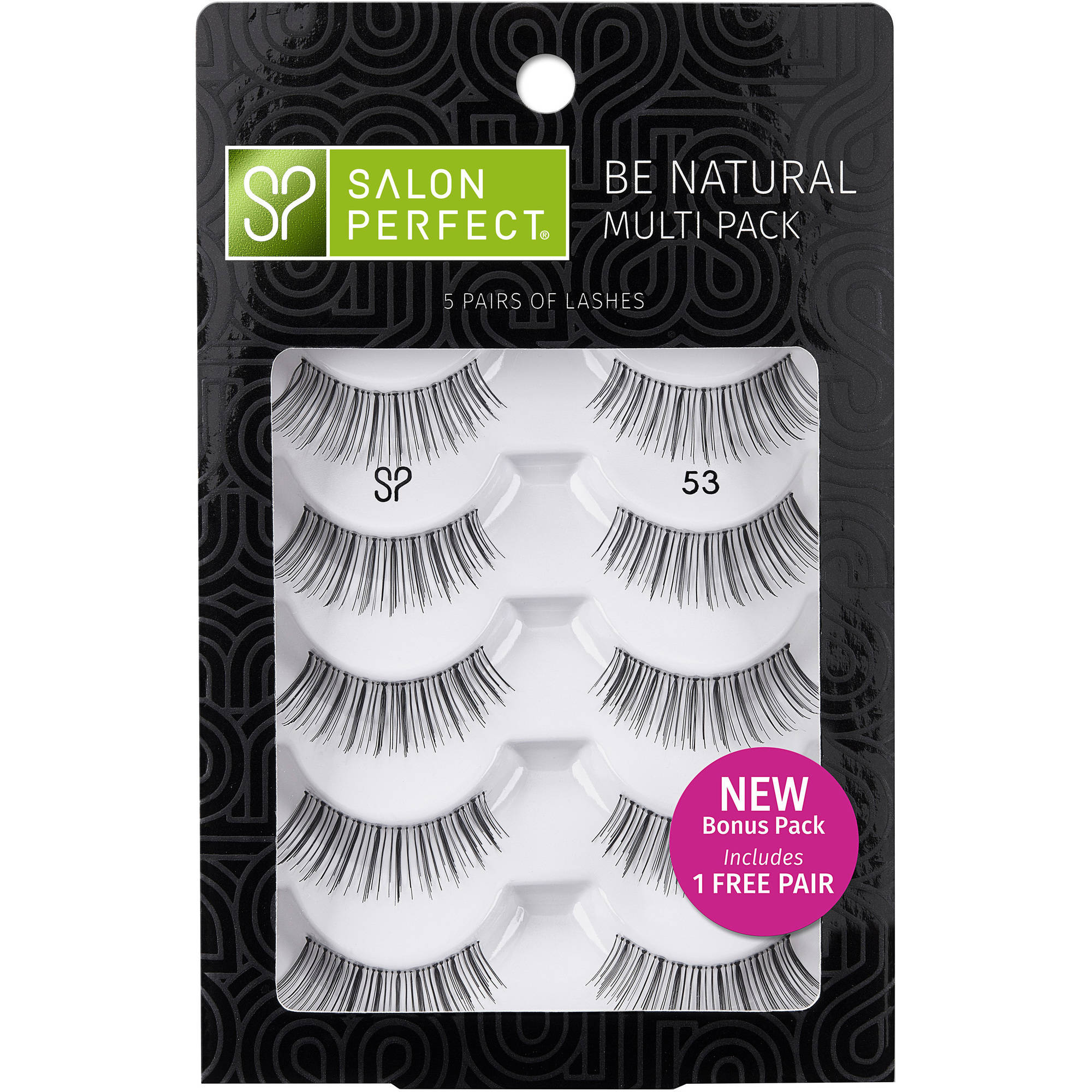 Salon Perfect Natural Multi Pack Eyelashes, 53 Black, 4 pr