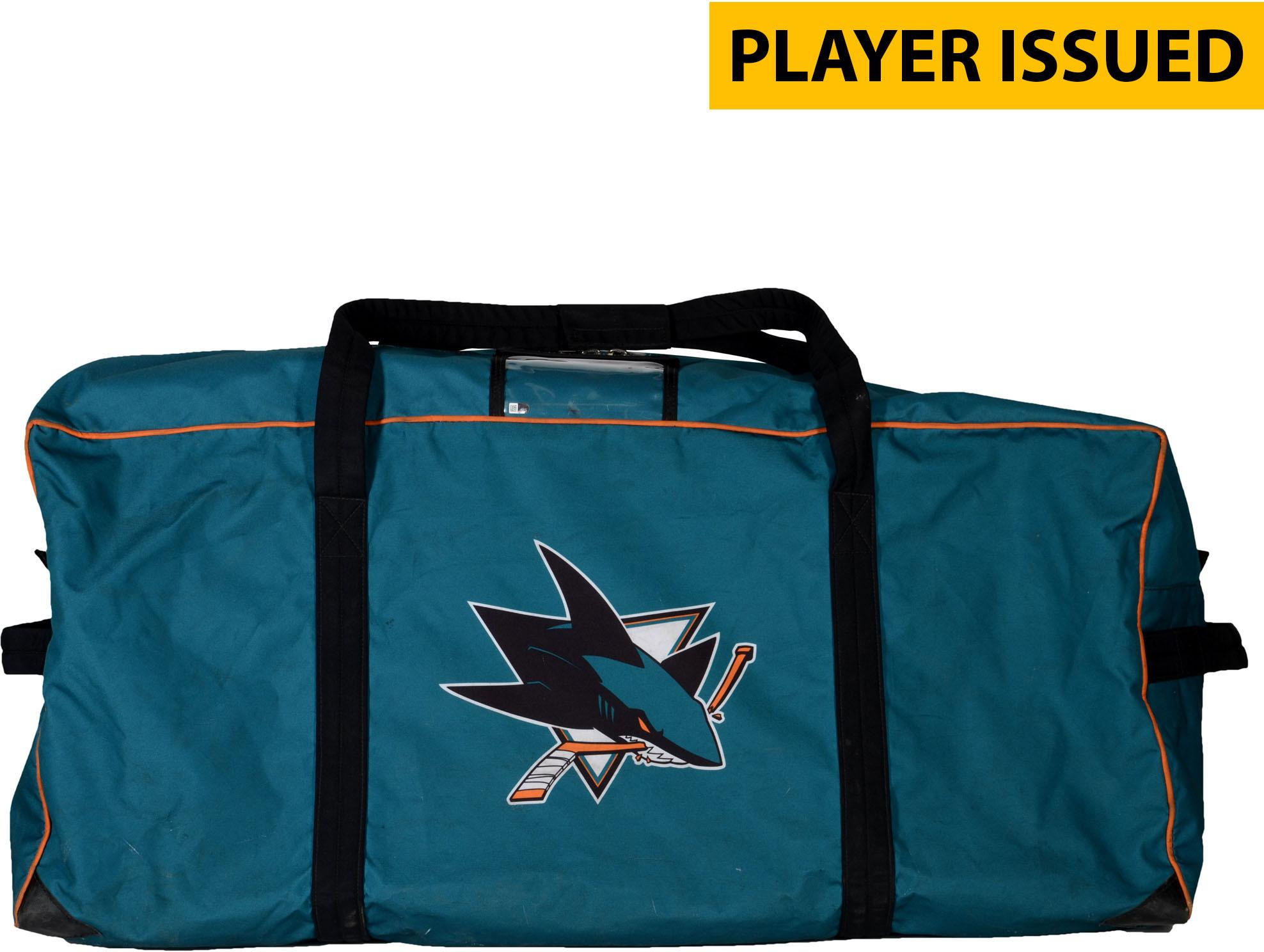 Paul Martin San Jose Sharks Player-Issued #7 Teal Equipment Bag from the 2017-18 NHL Season Fanatics Authentic Certified by Fanatics Authentic