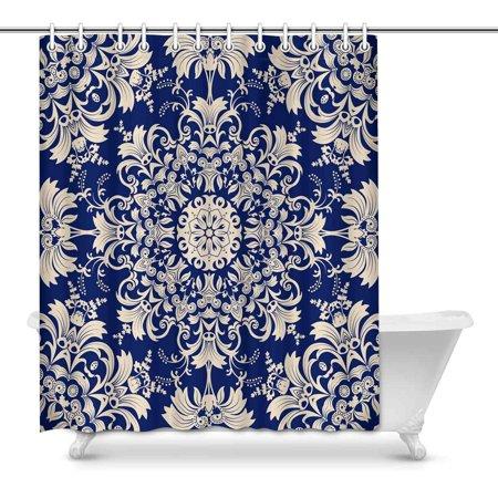 POP Ethnic Pattern Bathroom Decor Shower Curtain Set 60x72 inch - image 1 of 1