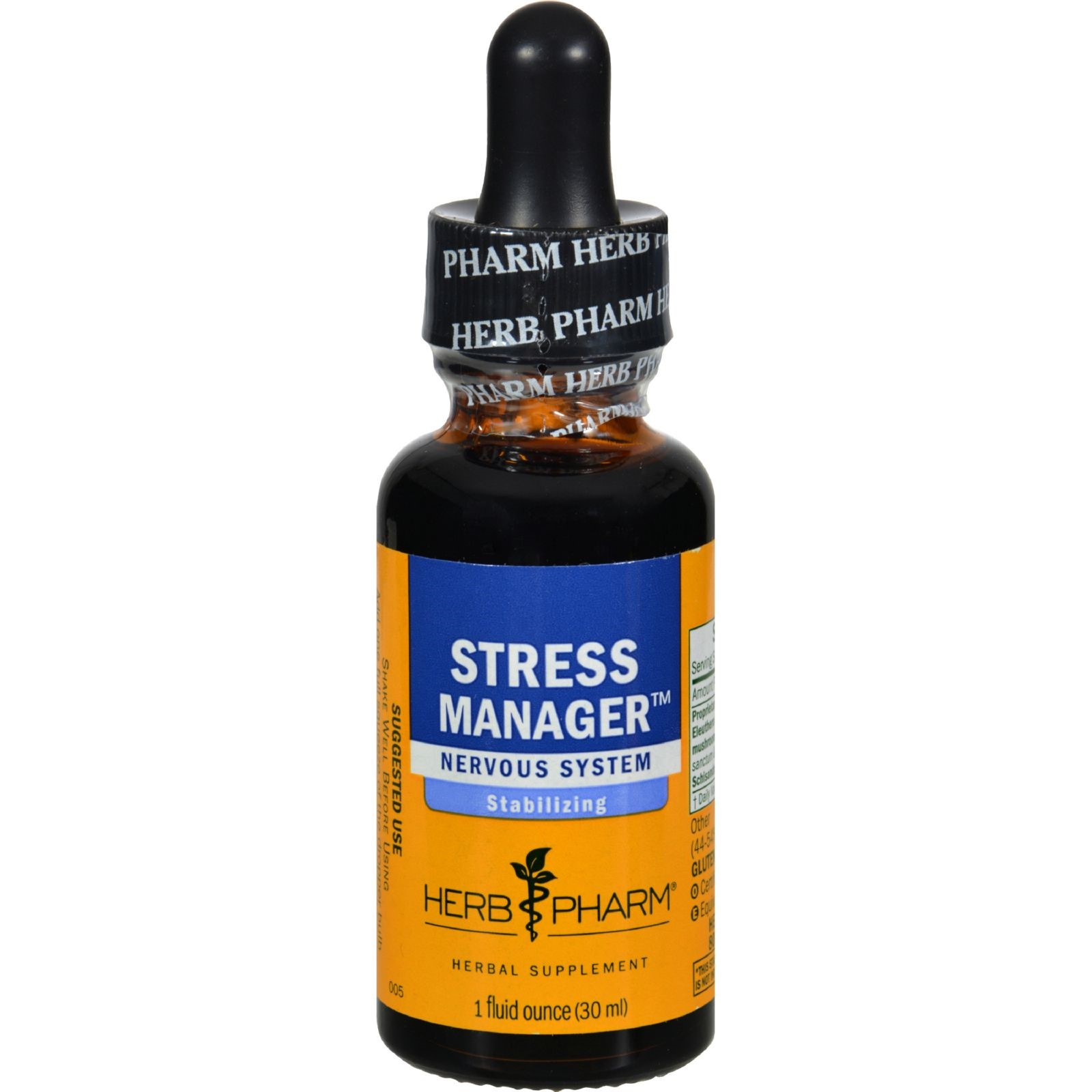 Stress Manager Compound Herb Pharm 1 Ounce Liquid