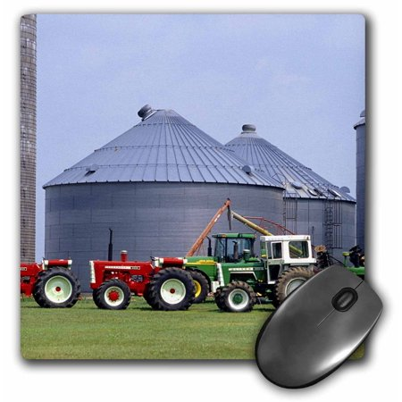 3Drose Farm  Vintage Tractor Collection  Wisconsin   Us50 Dfr0002   David R  Frazier  Mouse Pad  8 By 8 Inches