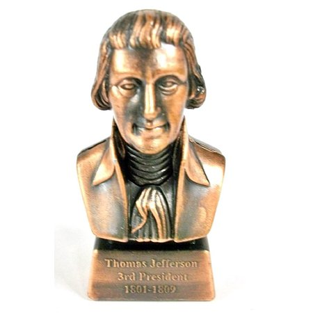 Thomas Jefferson 3rd President Bust Die Cast Metal Collectible Pencil Sharpener