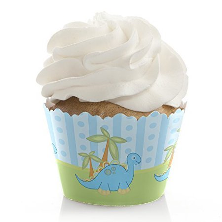 Baby Boy Dinosaur - Baby Shower Cupcake Wrappers - Set of 12](Baby Shower Cupcake Papers)