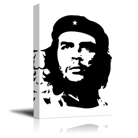wall26 - Canvas Prints Wall Art - Portrait of Che Guevara in Black and White | Modern Wall Decor/Home Decoration Stretched Gallery Canvas Wrap Giclee Print & Ready to Hang - 16