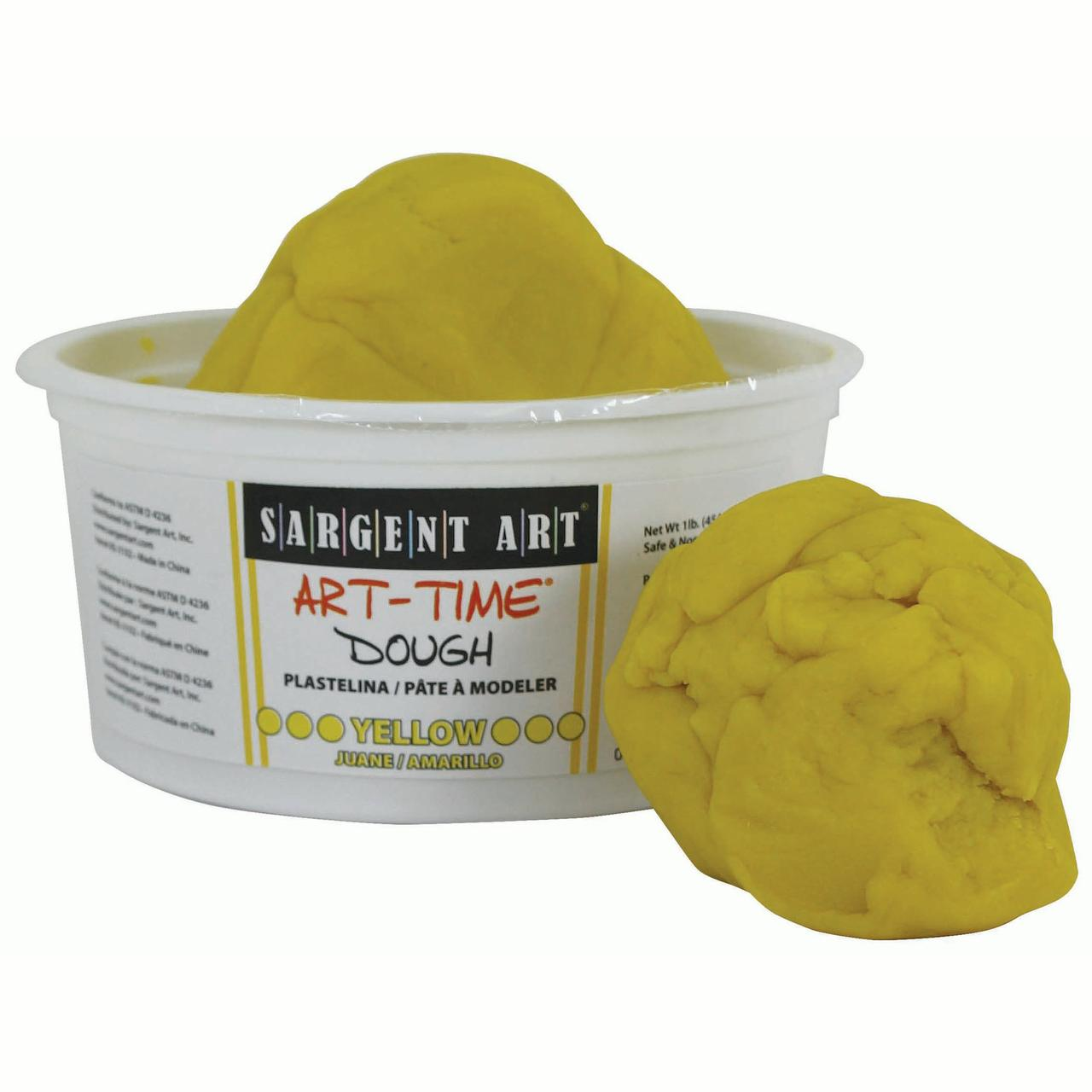 Art-Time® Dough, Yellow, 1lb Tub, Pack of 6