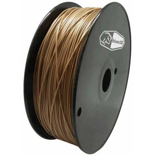 Bison3D Universal Filament for 3D Printing, 1.75mm, 1kg/Roll, Gold (PLA)