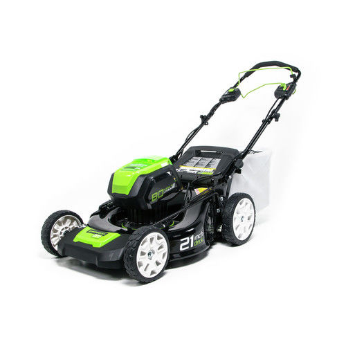 Greenworks Pro MO80L510 80V 21-Inch Self-Propelled Cordless Lawn Mower, 5Ah Battery and Charger Included by Sunrise Global Marketing, LLC