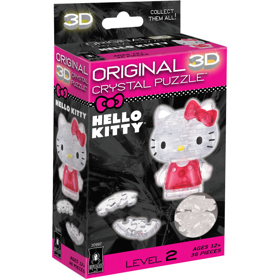 3D Crystal Puzzle, Hello Kitty Lovely, 36 Pieces