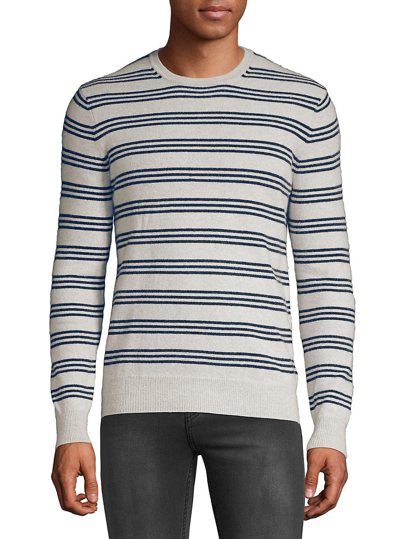 Balanced-Stripe Cashmere Sweater