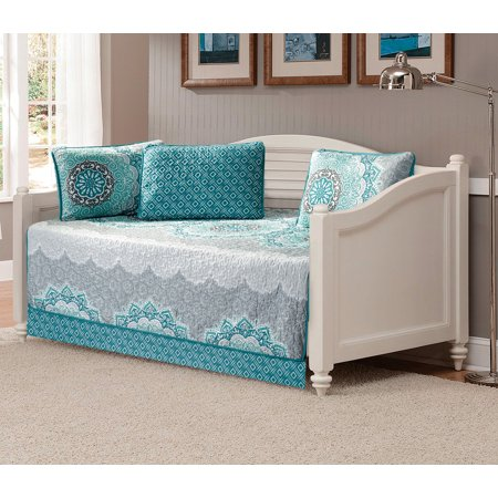 Fancy Linen 5pc Daybed Cover Set Aqua Turquoise Coastal Plain