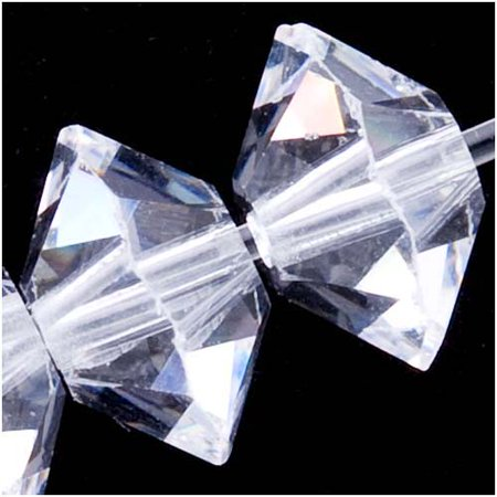 Swarovski Crystal, #5305 Rondelle Spacer Beads 6mm, 8 Pieces, Crystal