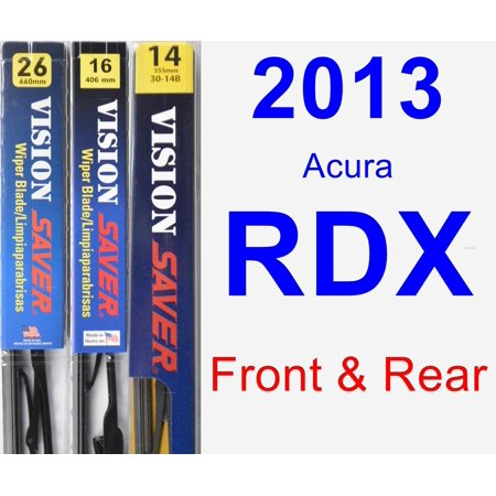2013 Acura RDX Wiper Blade Set/Kit (Front & Rear) (3 Blades) - Rear