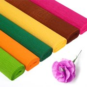 Aofa Folding Origami Crinkled Crepe Paper DIY Flower Wrapping Kids Handcrafts Supply