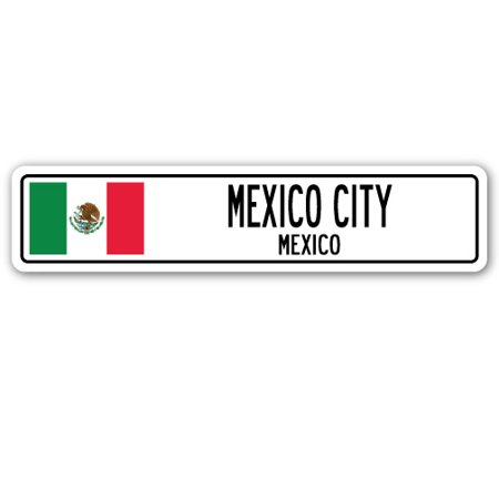 MEXICO CITY, MEXICO Street Sign Mexican flag city country road wall gift](Halloween City Old Country Road)