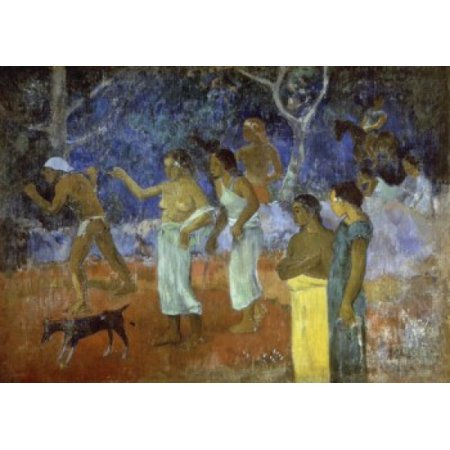 Paul Gauguin Museum - Scene From a Tahitians Life A 1896 Gauguin Paul 1848-1903 French Hermitage Museum St Petersburg Canvas Art - Gauguin Paul (18 x 24)